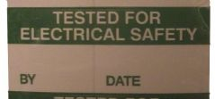 PRO POWER 7827276  Label Tested Elec Safety,Card Of 14